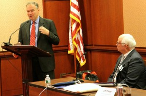 Sen. Tim Kaine promoted career and technical education Sept. 10, 2014 at a panel discussion held at the Capitol.