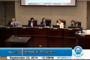 Arlington County Board Streetcar discussion