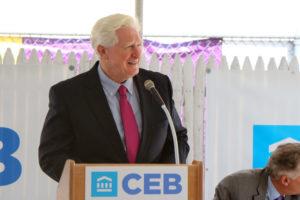 Rep. Jim Moran at the CEB Tower groundbreaking