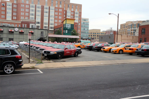 Red Top Cab's surface parking lot on N. Irving Street (file photo)