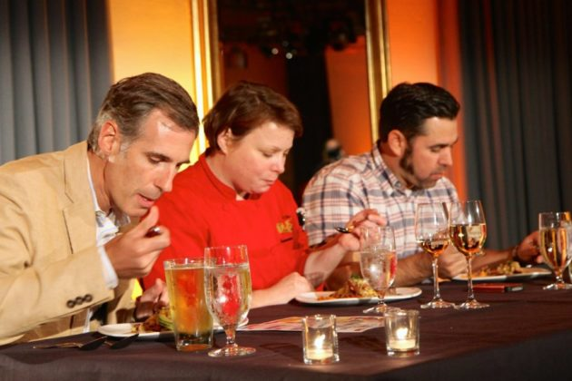 The panel of judges tried the dishes.