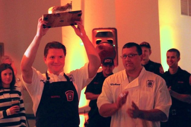 The ACFD Station 4 team celebrated their win for the appetizer round.