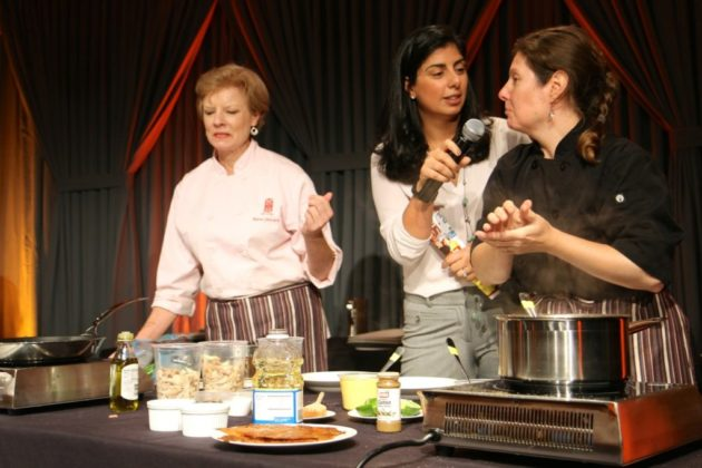 Chefs Kate Jansen and Tracy O'Grady of the Ballston restaurant Willow prepared their dish.