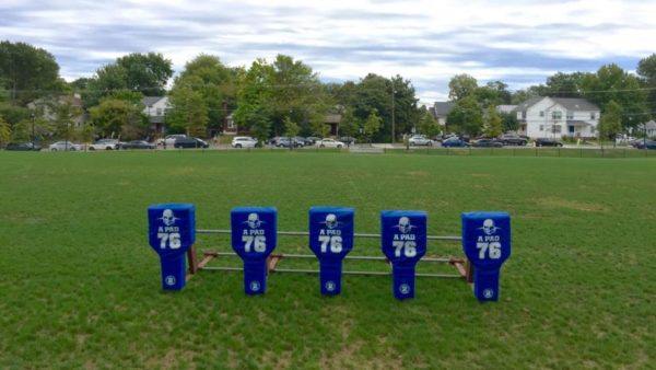 Football practice equipment at Washington-Lee HS (Flickr pool photo by John Sonderman)