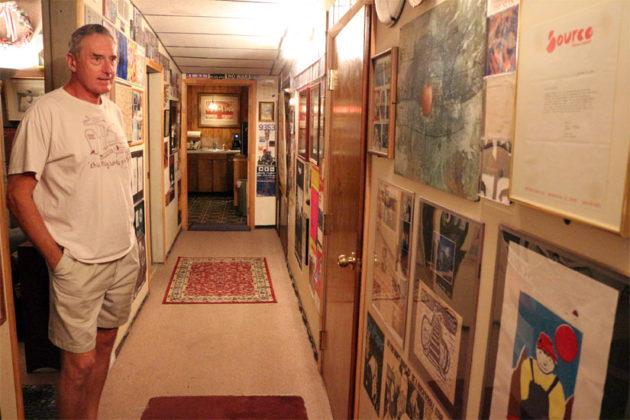 Inner Ear Studio owner Don Zientara in his studio's hallway
