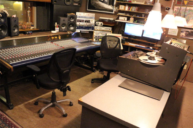 Recording equipment at Inner Ear Studio
