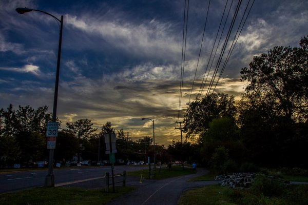 Sky over S. Walter Reed Drive near Shirlington (Flickr pool photo by Erinn Shirley)