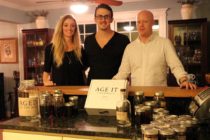 The Age it Yourself team: from left, Taylor Kampa, Bryan Olson and Michael Volz