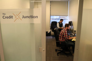 The Credit Junction team in its ÜberOffices space