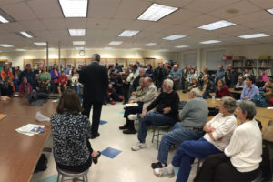 More than 230 residents attended the Lyon Park Citizens Association meeting over the funding of the community center renovations (photo courtesy John Goldener)