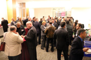 Virginia Tech alumni attend the launch of the VT Investor Network in Ballston