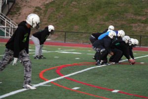Wakefield football practices before their second-round playoff game