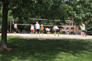 Sand volleyball at Quincy Park (photo via Arlington Parks and Recreation)