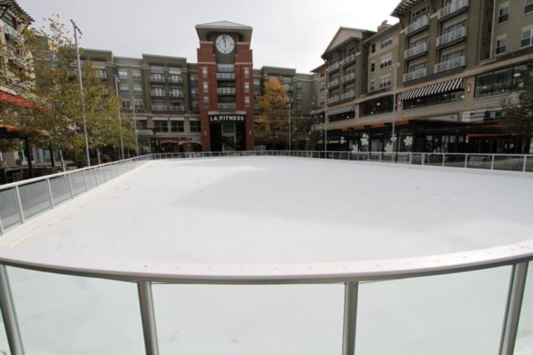 Ice skating rink at Pentagon Row on 11/3/14