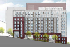Rendering of the proposed Columbia Hills development on S. Frederick Street