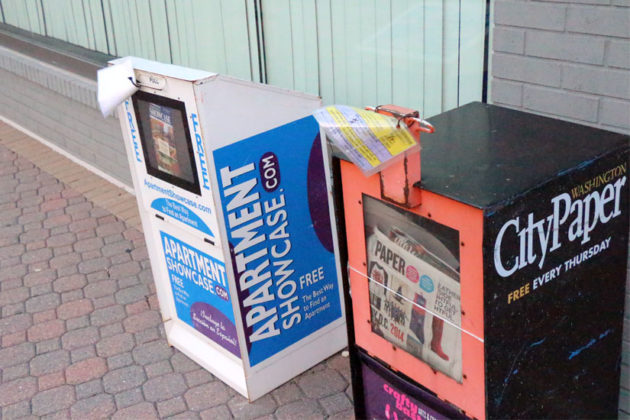 Newsboxes marked for removal in Rosslyn