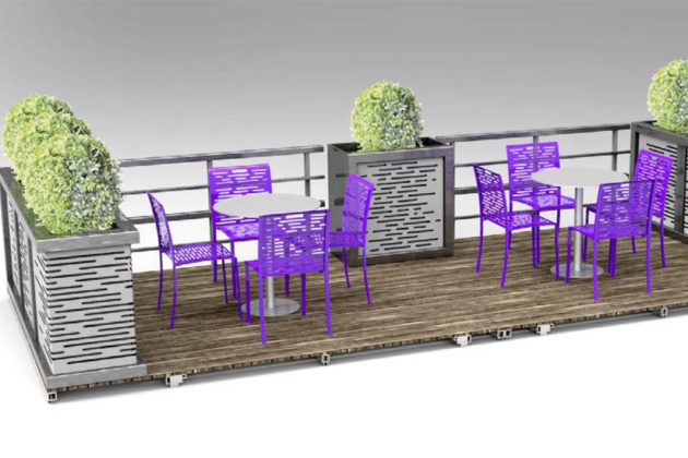 A parklet design for Rosslyn (rendering courtesy Rosslyn BID)