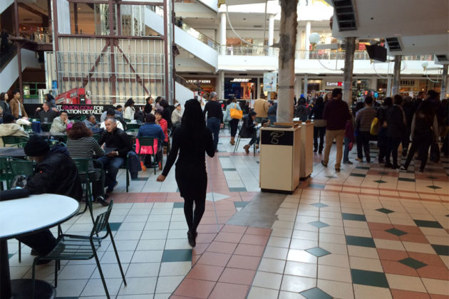 Several restaurants in the Pentagon City Mall food court are shut down during sewer repairs, Dec. 30, 2014