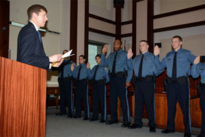 Arlington County Police Department swearing-in ceremony Friday, Dec. 19, 2004 (photo courtesy ACPD)