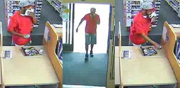 Armed robbery suspect in the Pentagon City Rite Aid store (photo via FBI)