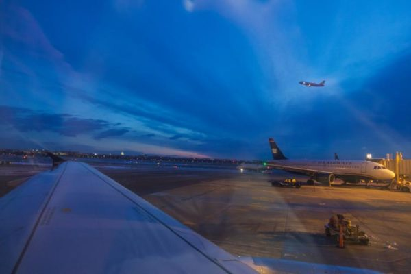 Planes at Reagan National Airport (Flickr pool photo by Kevin Wolf)