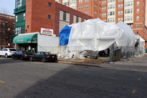 Construction on the building that will become Brixx Pizza in Clarendon