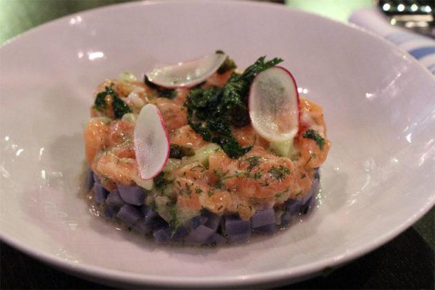 Salmon tartare at Kapnos Taverna in Ballston