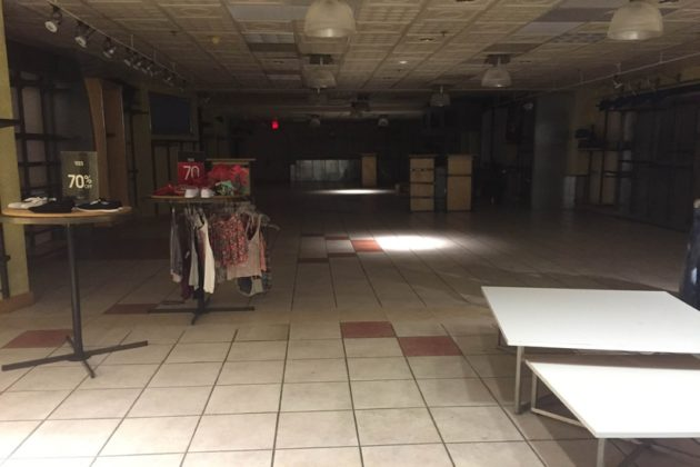 The closed Wet Seal in Ballston Common Mall
