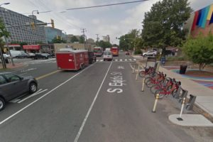 Previous configuration at S. Eads Street and 23rd Street S. (photo via Google Maps)