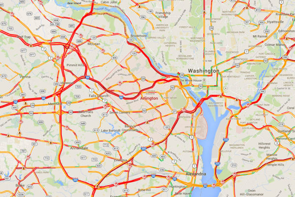 Extremely slow regional traffic due to snow on 1/6/15 at 7:45 a.m.