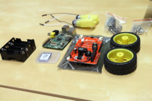 The components of Dexter Industries' GoPiGo robot