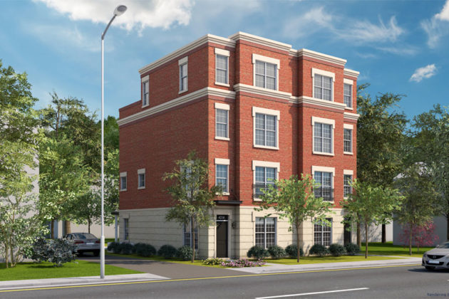 A rendering of the planned duplex at 4210 Washington Blvd