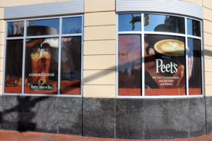 Peet's Coffee's future location, at the corner of N. Highland Street and Washington Blvd