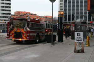 Firefighters respond to the Rosslyn Metro station