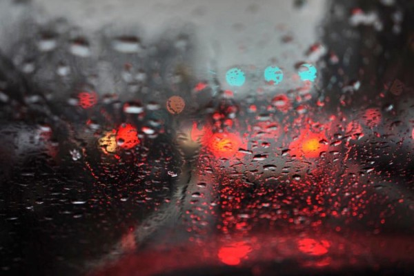 Wet drive to work (Flickr pool photo by Kevin Wolf)