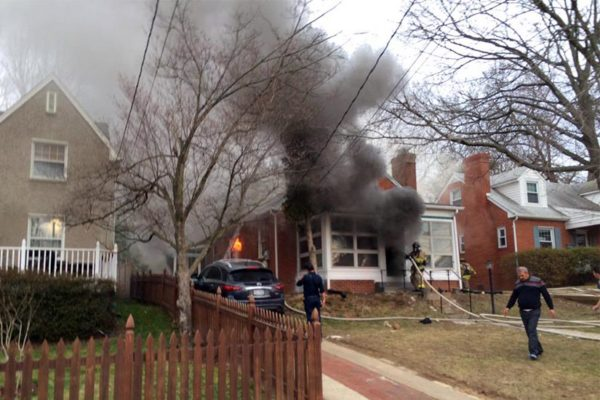House fire on N. Notthingham Street (photo courtesy ACFD)