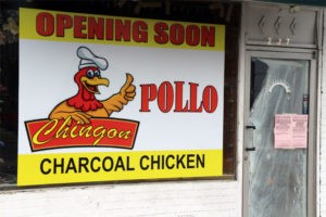 The sign for Chingon Pollo in Buckingam