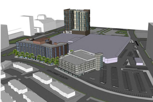 A rendering of Phase I of the Pentagon Centre redevelopment