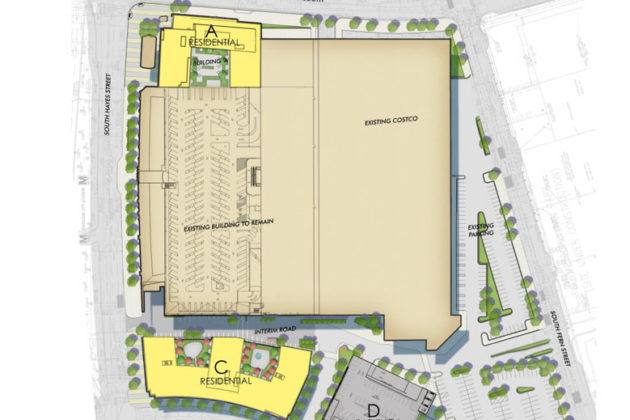 The planned construction and streetscape of Phase I of the Pentagon Centre redevelopment