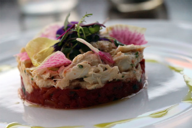 Jumbo lump crabmeat cockail with salsa rosa