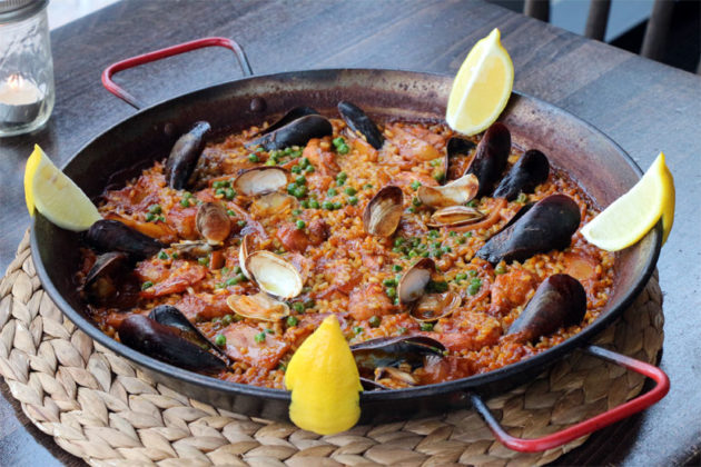 The seafood paella at SER in Ballston