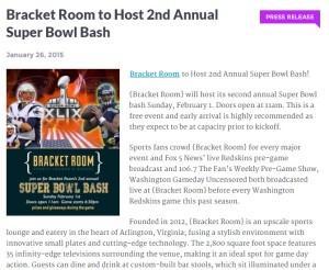Bracket Room press release