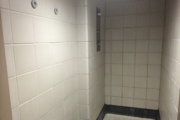 Private shower stall