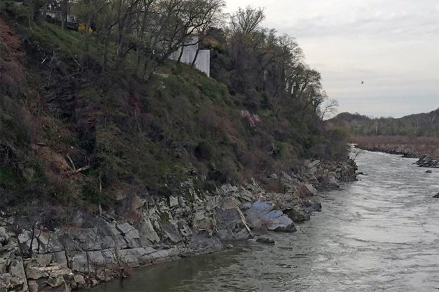 Approximate location of body found near Chain Bridge