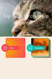 A screenshot of the PicIt! app