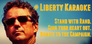 Stand With Rand karaoke poster (image via Facebook)