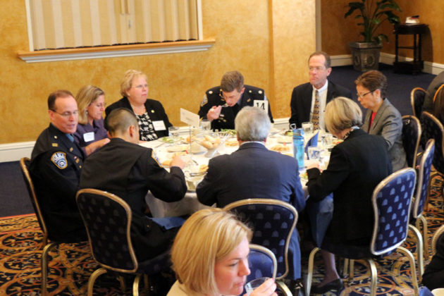 County Manager Barbara Donnellan, Superintendent Patrick Murphy and School Board member Abby Raphael were among the attendees