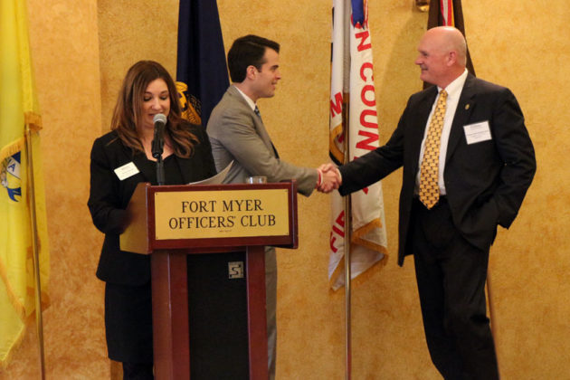 Retired ACPD Chief Doug Scott was honored at the 2015 Valor Awards