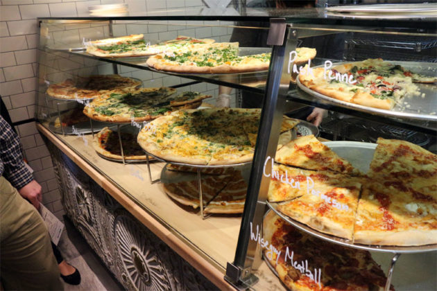 Wiseguy NY Pizza's pies by the slice