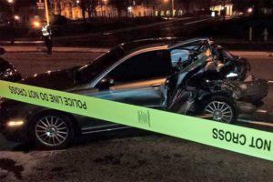 Fatal accident on N. Glebe Road (photo courtesy @ArlingtonVaPD)